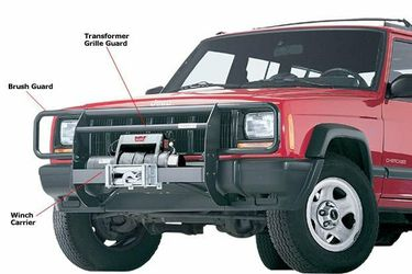 WTB - Jeep XJ Warn Transformer Winch Mount/ Brush Guard for Sale in Boring,  OR