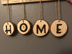 HOME woodburned wood slices for Sale in Appleton, WI