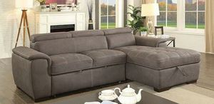 Brown convertible pullout sofa bed couch sectional No Credit Check No Credit Needed Apply Today for Sale in Downey, CA