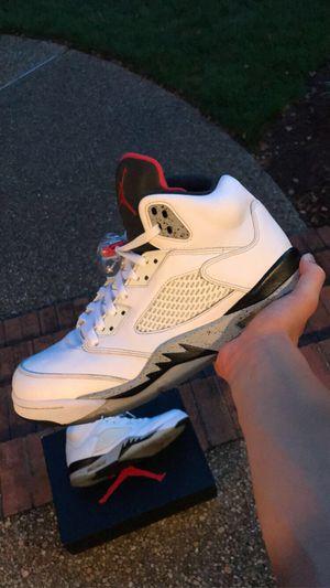 Jordan 5 white cement for Sale in Yorktown, VA