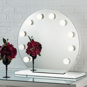 "$250 NEW Round 28"" Vanity Mirror w/ 10 Dimmable LED Light Bulbs, Hollywood Beauty Makeup USB Outlet for Sale in Santa Fe Springs, CA"