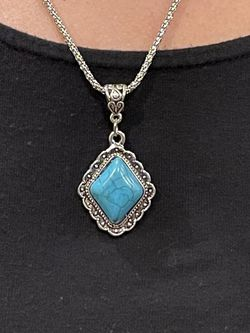 Turquoise Stone Pendant Necklace for Sale in Scarsdale,  NY