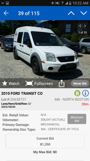 2013 transit parts only for Sale in Hyattsville, MD