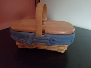 Signed Longaberger basket with lid and liner for Sale in Prosperity, SC