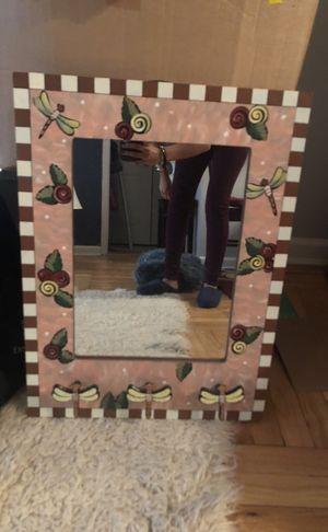 Mirror with 3 decorative hooks at base for Sale in New York, NY