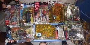 VINTAGE HORROR MOVIE ACTION FIGURES by McFarlene Toys... New sealed but packaging damaged..$20 each for Sale in Miami, FL