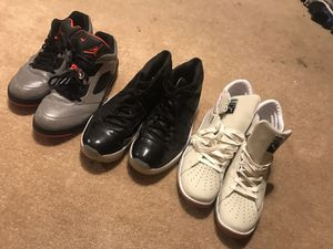 2 pairs of Jordan and a pair of pumas -size 13 for Sale in Severn, MD