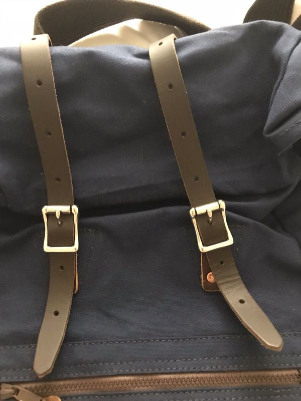 New. Never Used. Roll-top Navy backpack