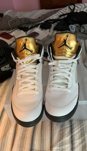 Jordan Air Jordan 5 Retro Olympic Gold Medal size 13 for Sale in Bowie, MD