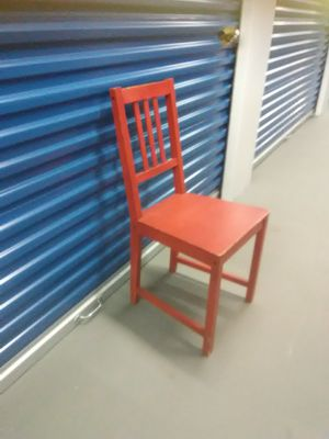 Red wooden chair great for desk for Sale in Takoma Park, MD