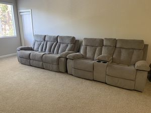 Mitchiner Reclining Sofa with Drop Down Table for Sale in Laguna Beach, CA