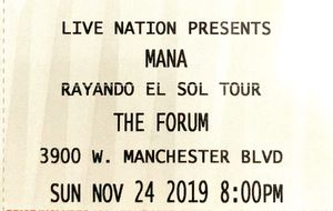 Mana tickets for Sunday Nov 24th!!! for Sale in Los Angeles, CA