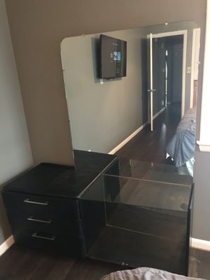 Refurbished black vanity dresser for Sale in Hastings, NE