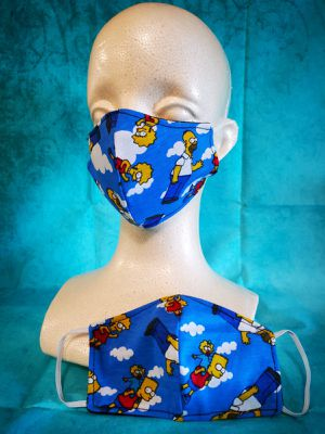 Kids Face mask (The Simpsons): Hand made mask, reversible, reusable, washer and dryer safe. #clothes #halloween for Sale in Long Beach, CA