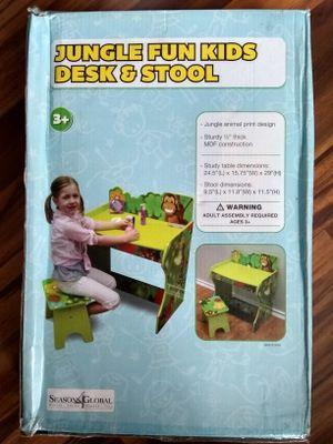 Jungle Fun Kids Desk & Stool for Sale in Akron, NY