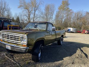 1974 Dodge 3-quarter ton 4x4 custom. Auto barn find for Sale in Federal Way, WA