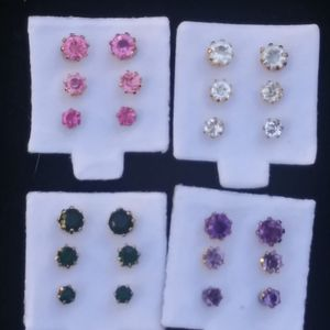 Multi-color rhinestone stud earring set for Sale in Columbus, OH