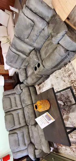 Mccade Cobblestone Reclining sofa and loveseat| Delivery Available| High Quality| Financing Options for Sale in Irving,  TX