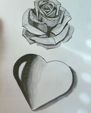 Rose and heart drawing for Sale in Redmond, WA