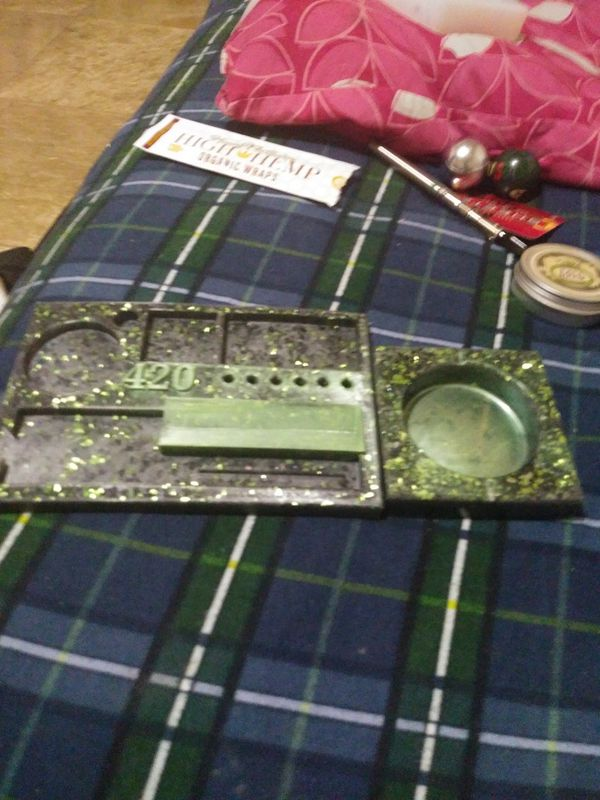 Rolling tray/jewelry tray and box