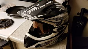 THH dirt bike mx motocross motorcycle helmet size XL with oakley goggles for Sale in Covina, CA
