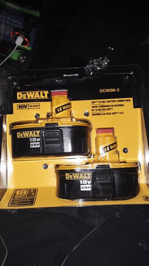 2 pack dewalt 18v xrp batteries for Sale in Federal Way, WA