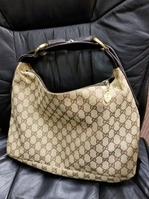 Gucci GG Canvas and leather Horsebit medium Hobo bag for Sale in Arlington, TX