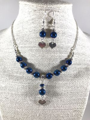 Handmade metallic blue bead necklace for Sale in Sunnyvale, CA