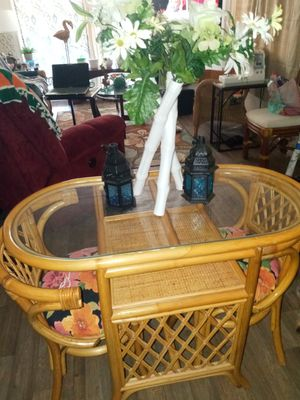Small rattan table and chairs for Sale in Ruskin, FL
