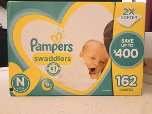 Bulk Pack 162 ct Pampers Newborn Diapers for Sale in Germantown, MD