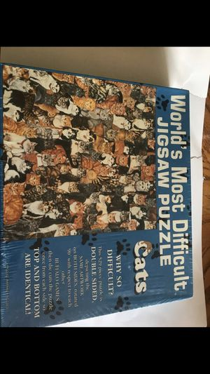 "Worlds Most Difficult Jigsaw Puzzle ""Cats"" 529 Pieces Buffalo Games New Sealed for Sale in Stroudsburg, PA"