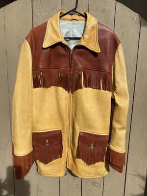 JACKET - BEAUTIFUL Vintage FRINGED GENUINE Native DEERSKIN LEATHER JACKET Coat for Sale in Issaquah, WA