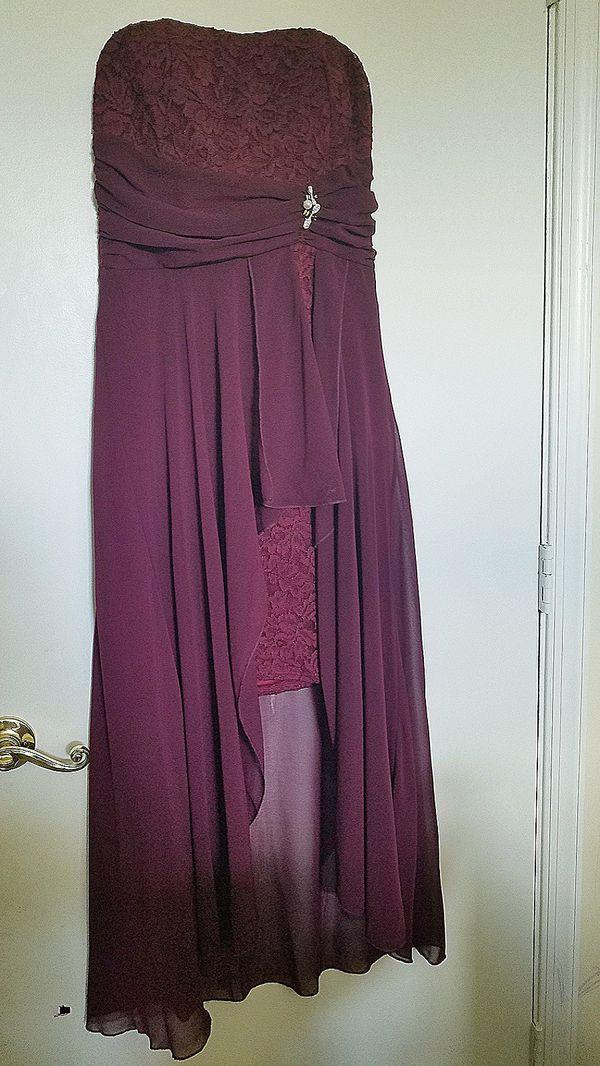 La scala dress women dress high low sleeveless prom dress