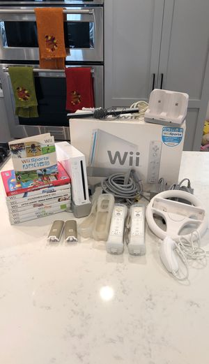 Wii System Bundle with games and accessories for Sale in Los Angeles, CA