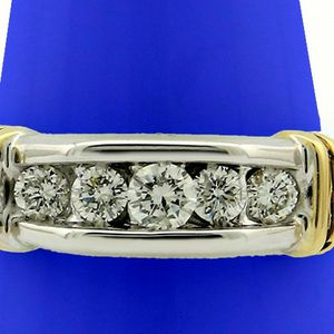 U3719 MENS DIAMOND RING 0.75CT WEDDING BAND 14K GOLD 7.50 GRAMS for Sale in San Diego, CA