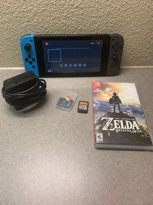 Nintendo Switch 32GB Gray Console w/ 64GB MEMORY CARD, ZELDA, MARIOKART 8 DELUXE for Sale in Corpus Christi, TX