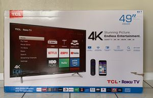 "TCL 49"" 4K UHD Smart TV with Roku for Sale in Palmetto Bay, FL"