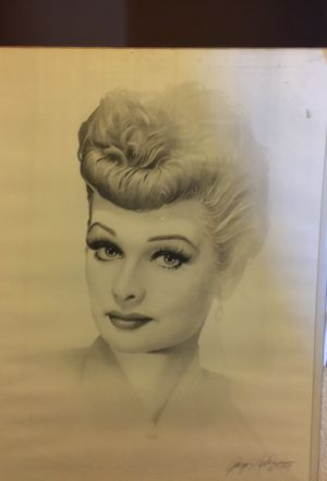 Lucille Ball beautiful graphic art. Dated 1989. With artist signature for Sale in Escondido, CA