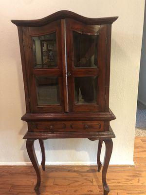 Antique Curio Cabinet for Sale in Simi Valley, CA
