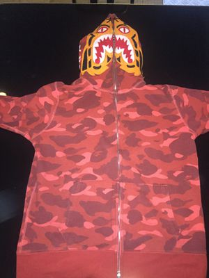 Bape Red Tiger Camo Hoodie for Sale in Houston, TX