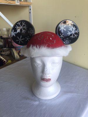 Disney Mickey Christmas santa ears adult size for Sale in San Jose, CA