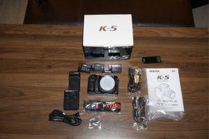 Pentax K-5 DSLR camera w/3 lenses like new in box for Sale in Boca Raton, FL