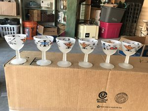 6 hand painted Native American glasses for Sale in Prosper, TX