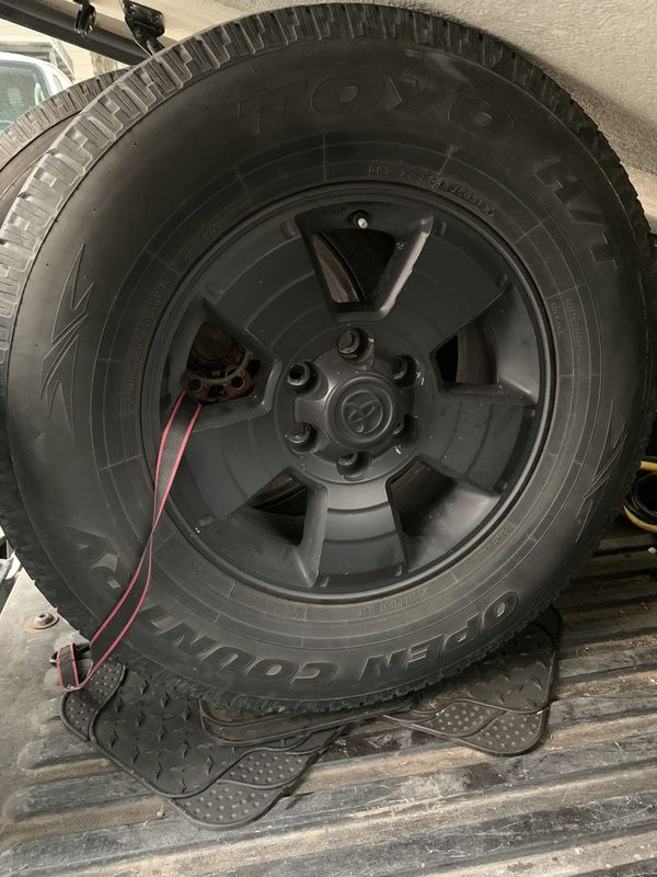 Blacked out Gen 2 Toyota Tacoma tires and rims *Excellent Tread*