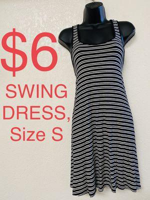 SWING DRESS, Black & White Striped Dress, Size S for Sale in Phoenix, AZ