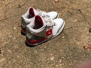 Jordan retro 3s : White,Red, Nd Grey for Sale in Philadelphia, MS