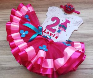 Poppy troll birthday party tutu outfit for Sale in Corpus Christi, TX