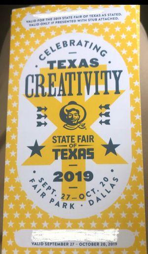 State Fair Ticket for Sale in Dallas, TX