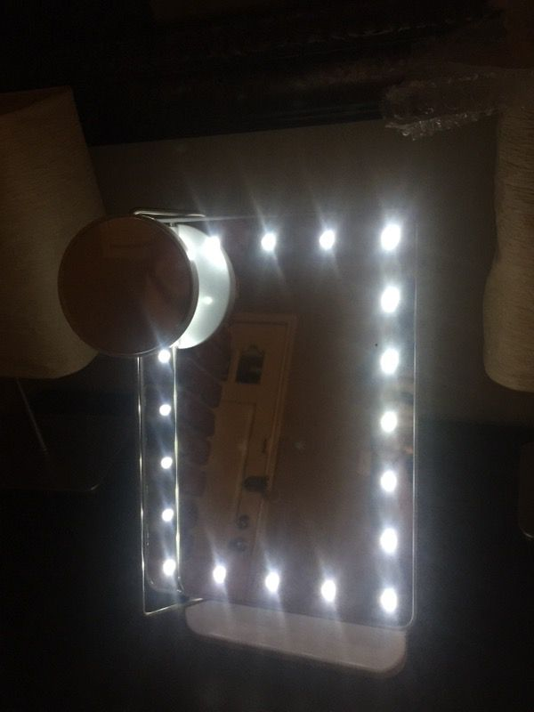 Mirror 20 leds touch screen
