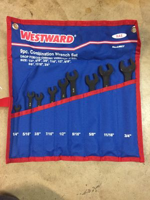 Westward 9 piece combo wrench set for Sale in Riverside, CA